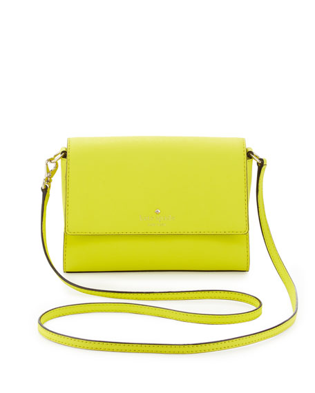 cedar street magnolia crossbody bag, vivid yellow