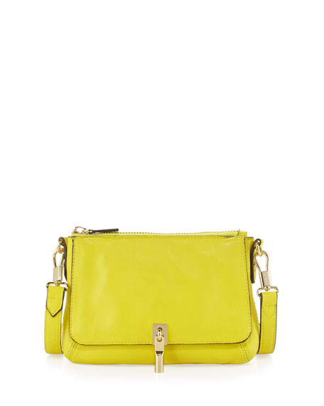 Cynnie Micro Crossbody Bag, Peony Yellow