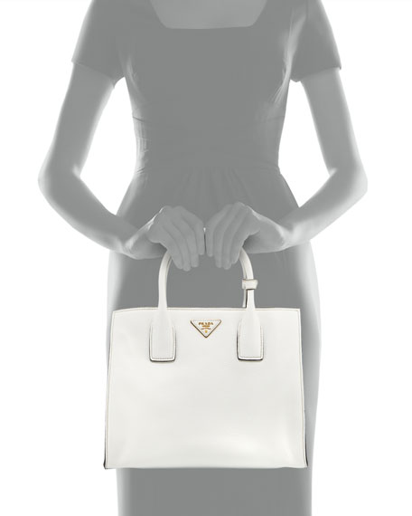 Daino Tote Bag, White (Bianco)