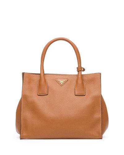 Prada Daino Tote Bag, Brown (Brandy)