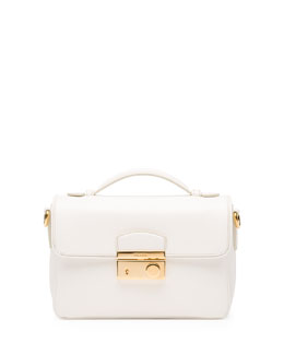 Prada Saffiano Small Crossbody Bag, White (Bianco)