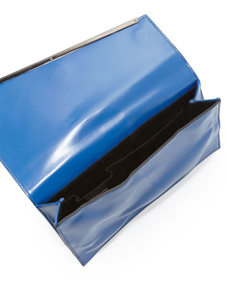 Asymmetric Envelope Clutch Bag, Blue (Stylist Pick!)