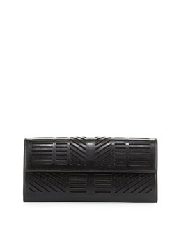 BCBGMAXAZRIA Geometric Laser-Cut Clutch Bag, Black