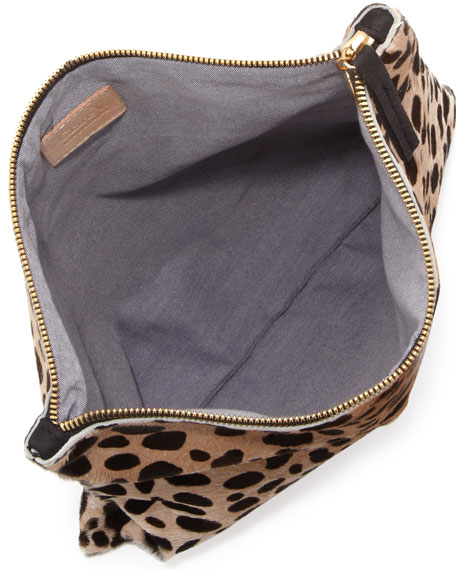 Supreme Leopard-Print Fold-Over Clutch Bag