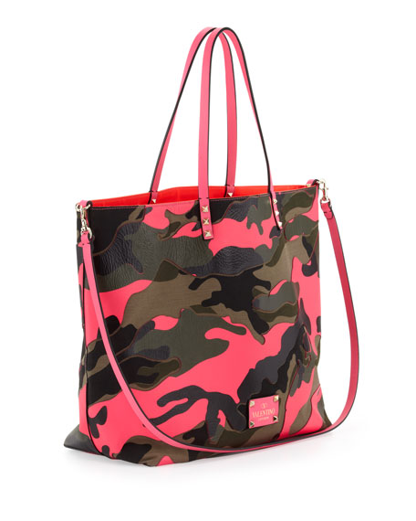 Neon Camouflage Reversible Tote Bag