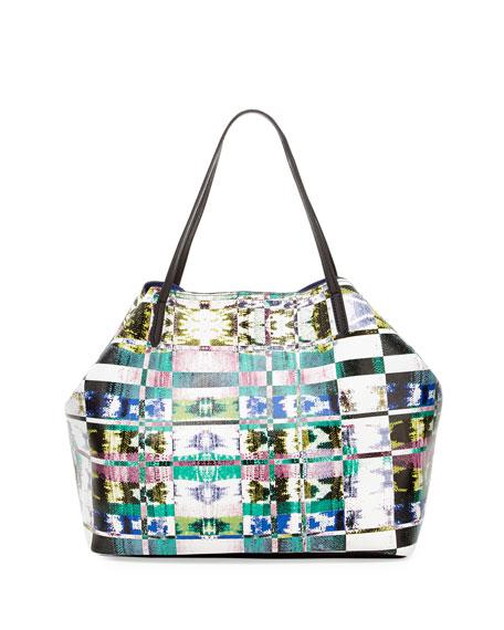 Simone Geo-Print Tote Bag