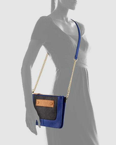 Danielle Nicole Amelia Crossbody Bag, Cobalt/Black/Brown