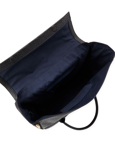 Multi-Texture Tote Bag, Black