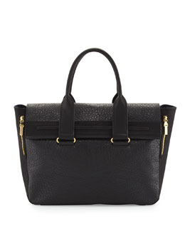 French Connection Multi-Texture Tote Bag, Black