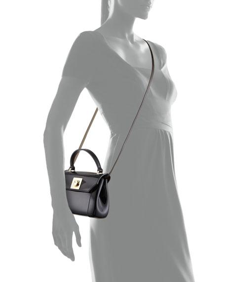 Candy Mini PVC Crossbody Bag, Grigio Fume