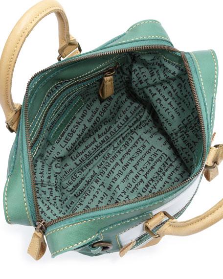 Madeline Colorblock Satchel Bag, Mixed Green