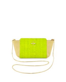 Pour la Victoire Elie Mini Crossbody Bag, Neon Cork