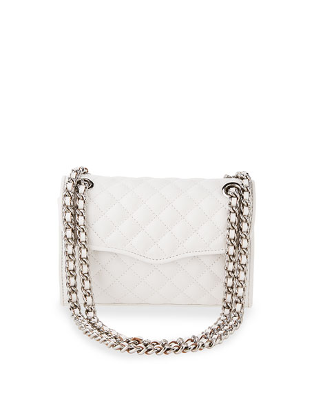 Quilted Affair Mini Shoulder Bag, White