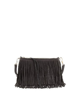 Rebecca Minkoff Finn Fringe Crossbody Bag, Black
