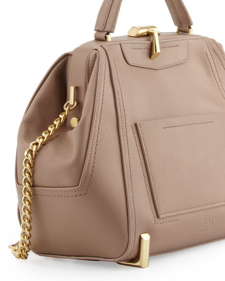 Daphne Top-Handle Bowler Bag, Blush