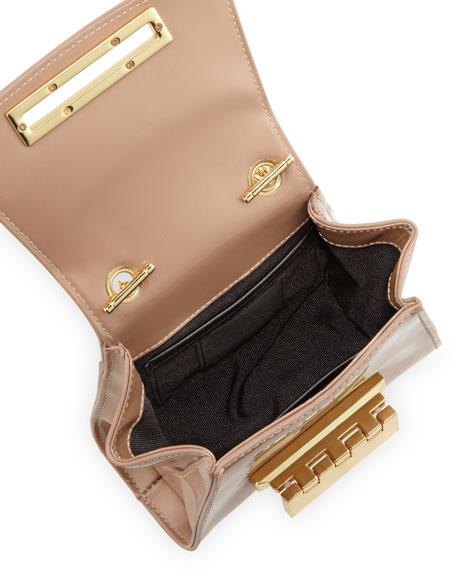 Eartha Mini Patent Crossbody Bag, Blush