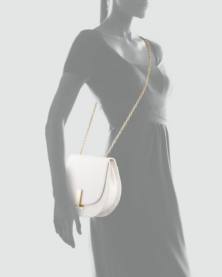 Loren Chain-Strap Shoulder Bag, Pearl