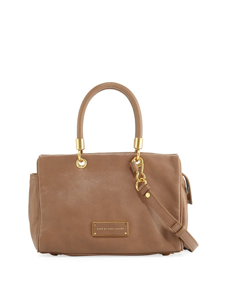 Too Hot to Handle Zip Satchel Bag, Praline