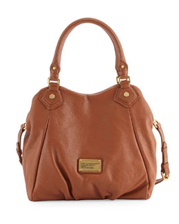MARC by Marc Jacobs Classic Q Fran Satchel Bag, Smoked Almond