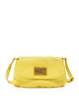 MARC by Marc Jacobs Classic Q Percy Flap Crossbody Bag, Banana Creme
