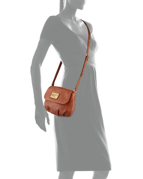 Classic Q Percy Flap Crossbody Bag, Smoked Almond