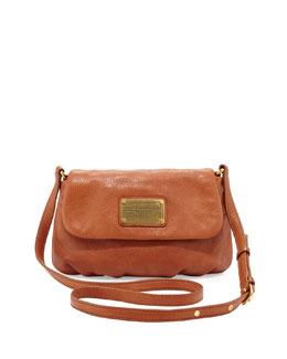MARC by Marc Jacobs Classic Q Percy Flap Crossbody Bag, Smoked Almond