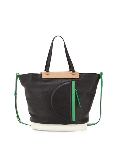 MARC by Marc Jacobs Round the Way Girl Tote Bag, Black Multi