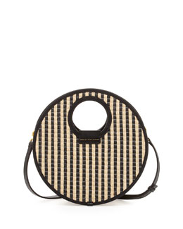 MARC by Marc Jacobs Isle De Sea Crossbody Basket Bag, Black Stripe