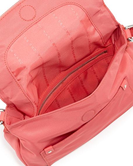 Preppy Nylon Natasha Crossbody Bag, Bright Coral