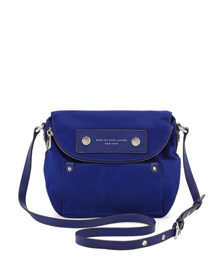 Preppy Nylon Mini Natasha Crossbody Bag, Deep Ultraviolet