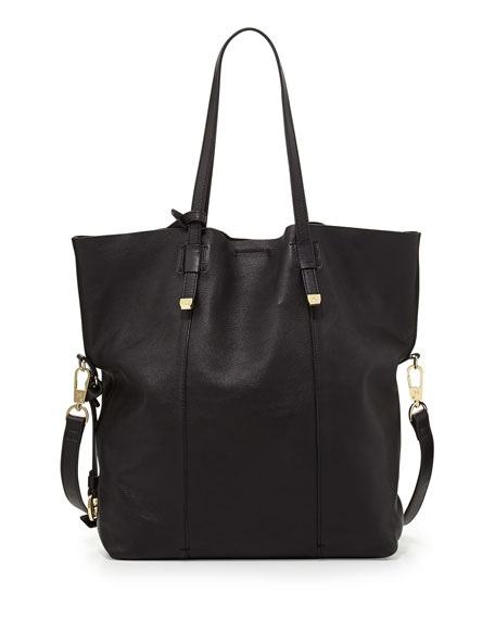 City Casual Fold-Over Tote Bag, Black