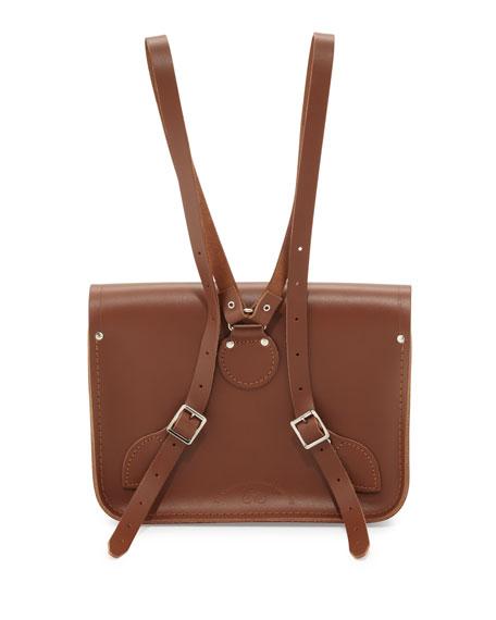 """11"""" Leather Backpack, Vintage"""