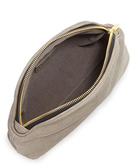 Mr. Jones Pebbled Leather Clutch, Gray