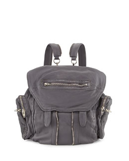 Alexander Wang Marti Convertible Mesh Leather Backpack, Exhaust