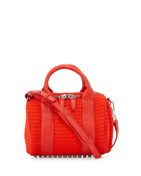 Rockie Mesh Small Crossbody Bag, Cola