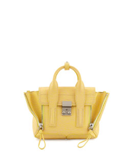 3.1 Phillip Lim Pashli Mini Leather Satchel Bag, Pollen/Buff