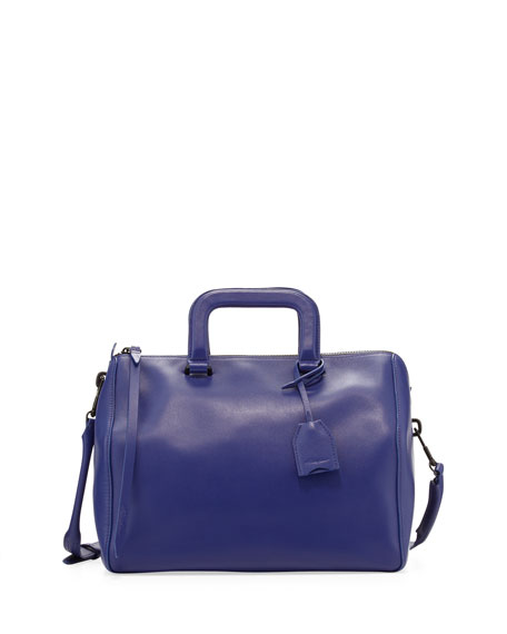 Wednesday Medium Boston Satchel Bag, Ultramarine