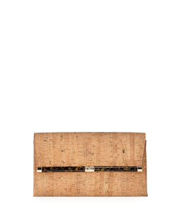Diane von Furstenberg 440 Cork Envelope Clutch Bag, Natural