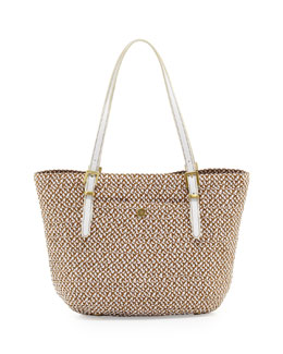 Eric Javits Jav Squishee Tote Bag, Natural/White