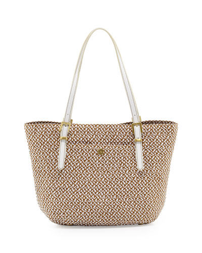Jav Squishee Tote Bag, Natural/Gold