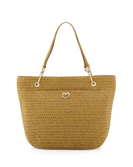 Eric Javits Squishee Clip II Tote Bag, Natural
