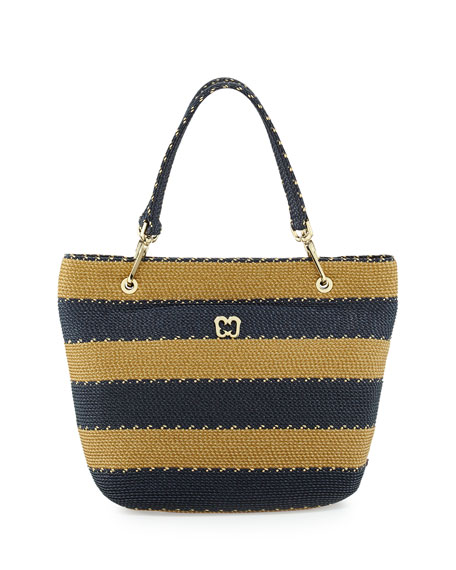 Squishee Striped Clip II Tote Bag, Navy Mix
