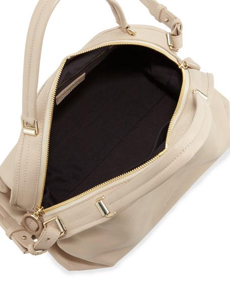 Bluebell Domed Satchel Bag, Pebble