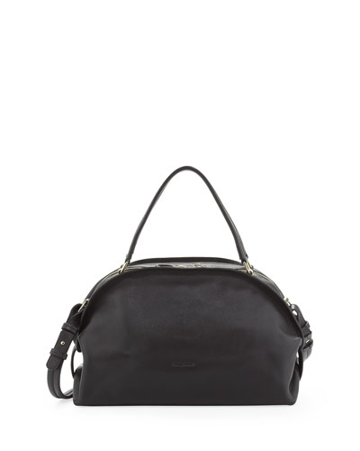 Bluebell Domed Satchel Bag, Graphite