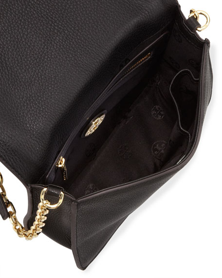 All T Pebbled Crossbody Bag, Black