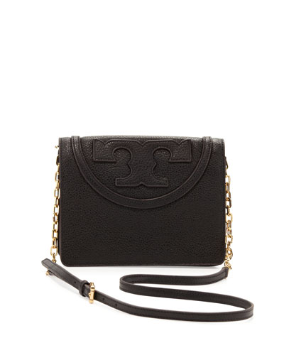 All T Pebbled Crossbody Bag, Black