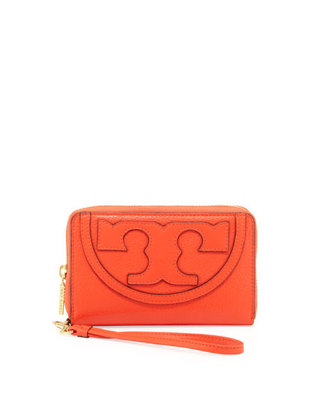 All T Zip Phone Wristlet Wallet, Poppy