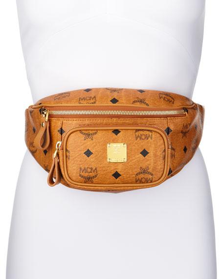 Stark Leather Waist Bag, Cognac