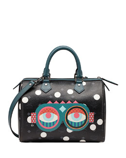 MCM Craig & Karl Beyond Snowdome Boston Satchel Bag