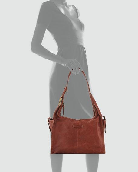 Artisan Leather Hobo Bag, Whiskey